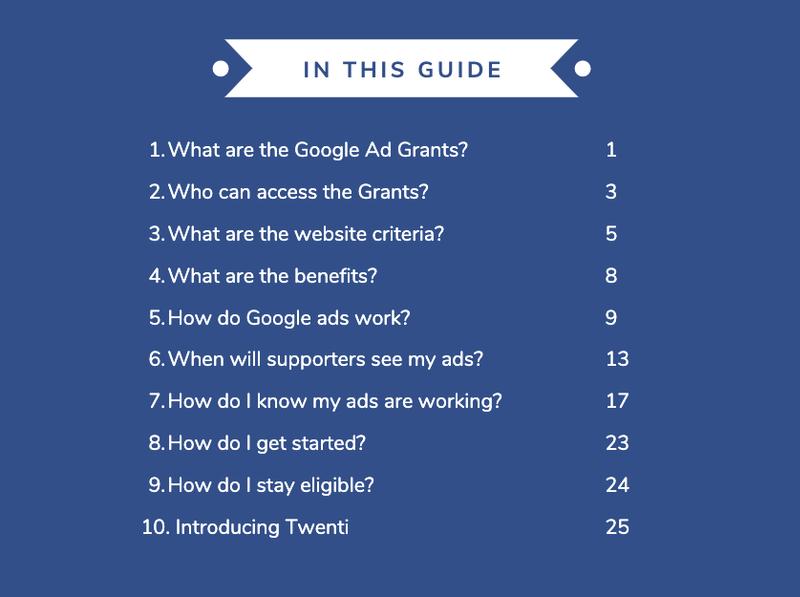Ad Grants Ebook Cover Page