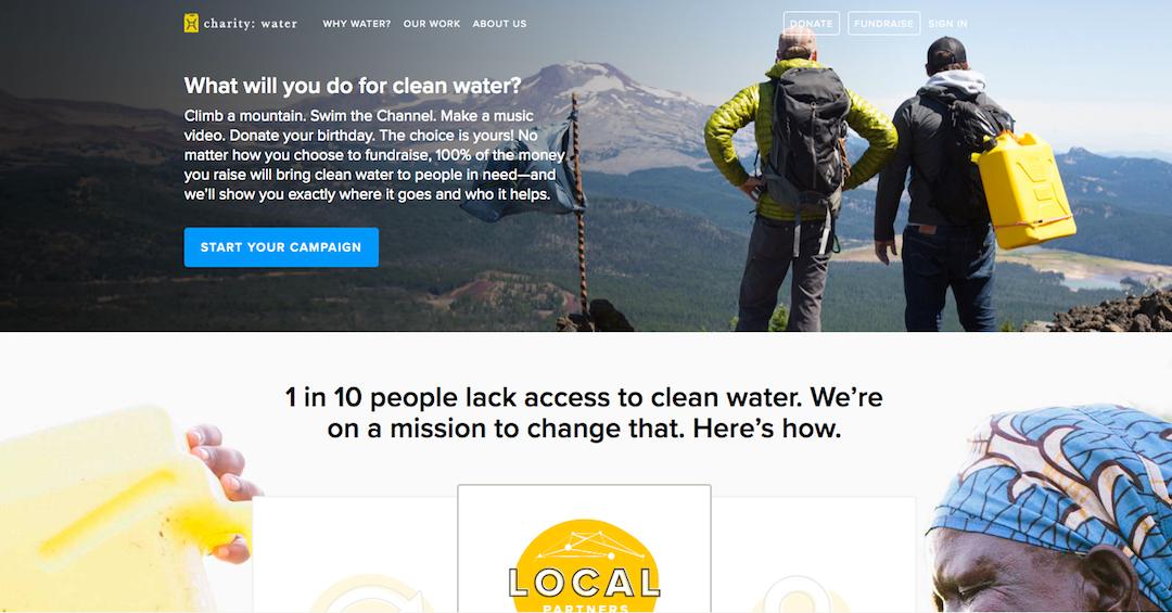 Charity Water Website